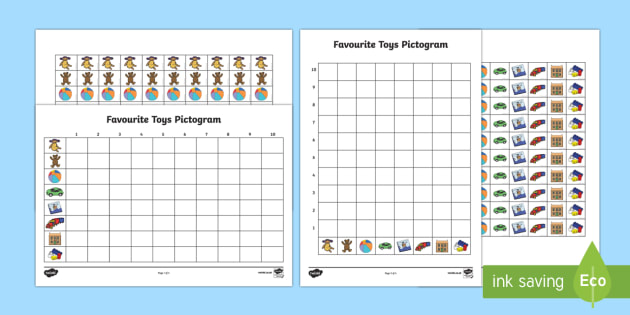 Favourite Toys Pictogram Resource Pack - Toy, gifts, favourite, data, data handling, pictogram, graph, chart, tally, games, play, favourite t