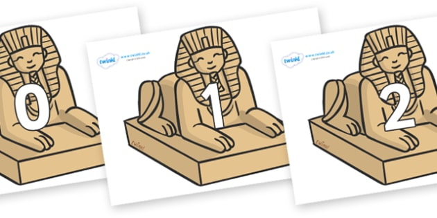 Numbers 0-31 on Sphinx - 0-31, foundation stage numeracy, Number recognition, Number flashcards, counting, number frieze, Display numbers, number posters