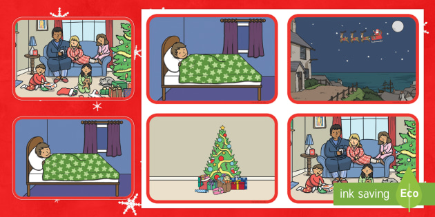 Christmas Picture Story Sequencing Cards