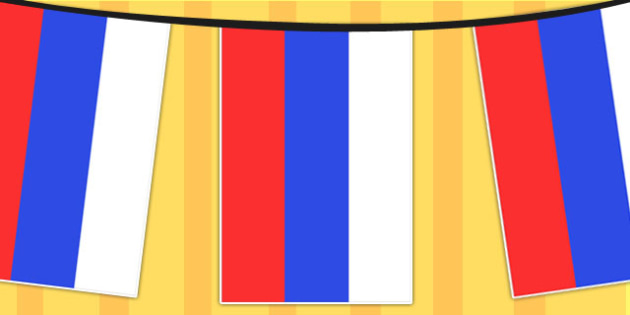 Russia A4 Flag Bunting - countries, geography, flags, country