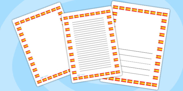 Spanish Flag Page Borders - spanish, flag, page borders, borders