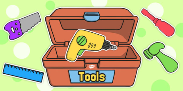 Editable Toy Tools and Toolbox - toolbox, toy, tools, editable