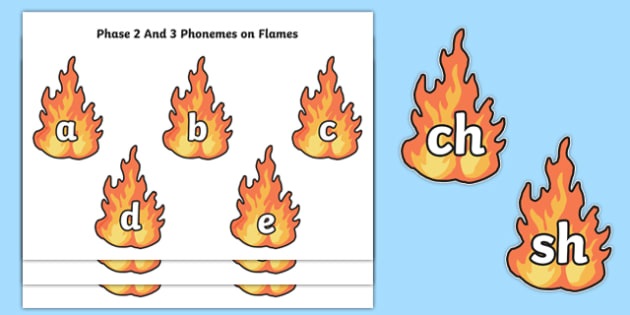 Phase 2 and 3 Phonemes on Flames