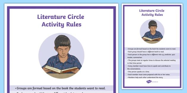 Literature Circle Rules A4 Display Poster
