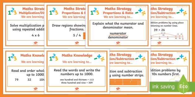 Stage 5 Mathematics WALT Display Posters