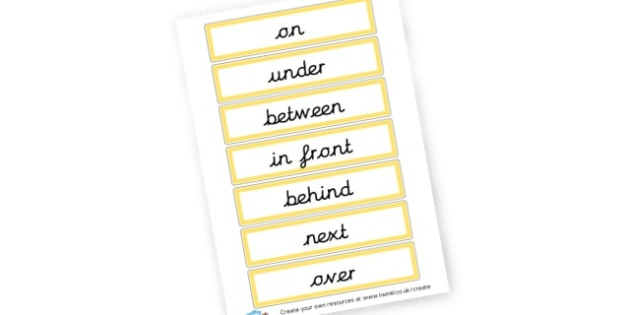 Prepositions Tags