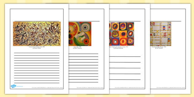 Abstract Artists Writing Frames - abstract, artist, writing frame