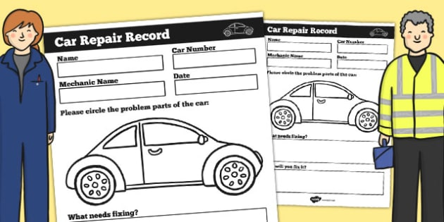 Mechanic Roleplay Area Car Repair Record - mechanic, role-play