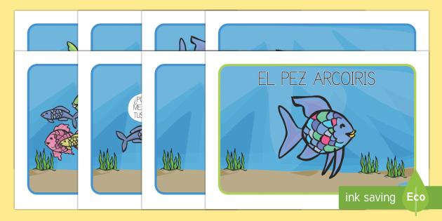 Actividad de secuenciar un cuento - El pez arcoiris