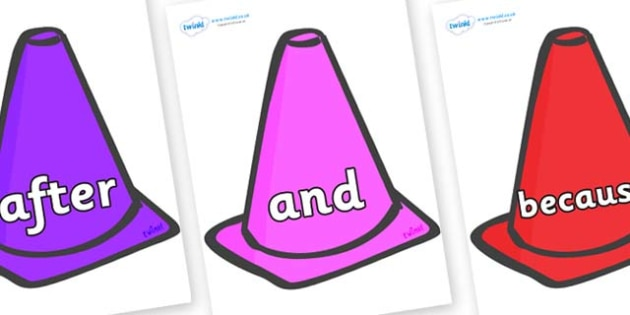 Connectives on Cones - Connectives, VCOP, connective resources, connectives display words, connective displays