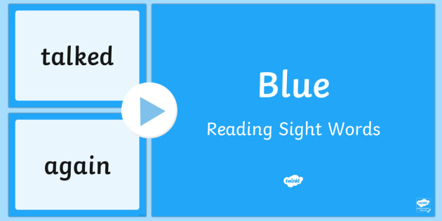 New Zealand Blue Reading Sight Words PowerPoint