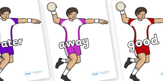 Next 200 Common Words on Handball Players - Next 200 Common Words on  - DfES Letters and Sounds, Letters and Sounds, Letters and sounds words, Common words, 200 common words