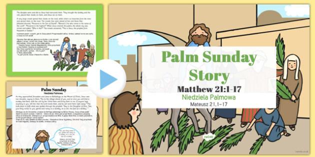 Palm Sunday Story PowerPoint Polish Translation - polish, christianity, powerpoints, stories