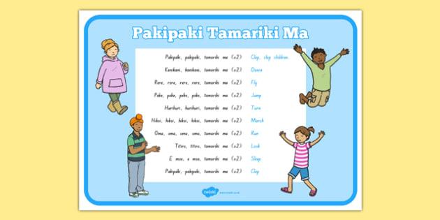 Te Reo Māori Pakipaki Tamariki Ma Song