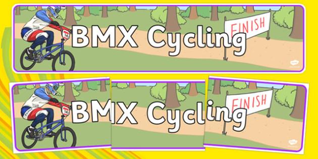 Rio 2016 Olympics BMX Cycling Display Banner - rio olympics, 2016 olympics, rio 2016, bmx cycling, display banner