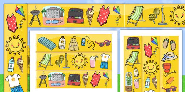 Summer Season Display Borders - summer, seasons, weather, borders