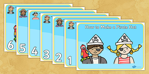How to Make a Pirate Hat - Pirates, pirate hat, making a pirate hat, activity, aid, pirate, pirates, treasure, ship, jolly roger, ship, island, ocean
