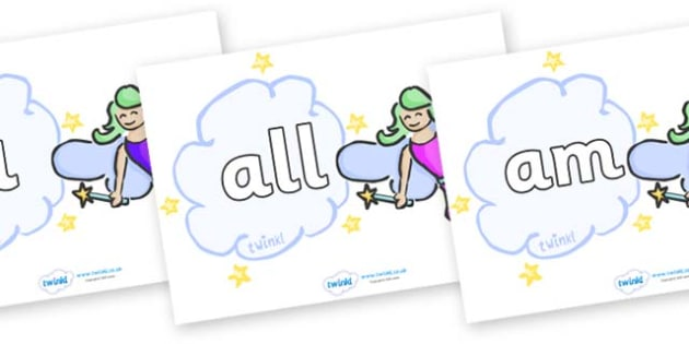 Foundation Stage 2 Keywords on Fairies (Multicolour) - FS2, CLL, keywords, Communication language and literacy,  Display, Key words, high frequency words, foundation stage literacy, DfES Letters and Sounds, Letters and Sounds, spelling