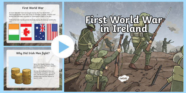 World War in Ireland PowerPoint - Irish in World War I, world war ...