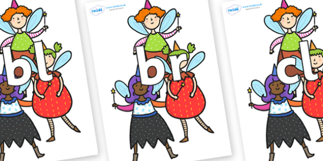 Initial Letter Blends on Good Fairies - Initial Letters, initial letter, letter blend, letter blends, consonant, consonants, digraph, trigraph, literacy, alphabet, letters, foundation stage literacy