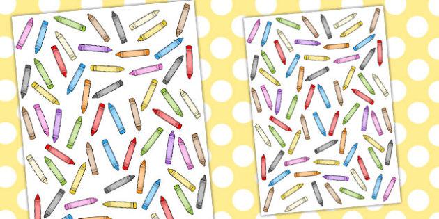 Crayon Themed A4 Sheet - a4, sheet, crayon, themed, crayons