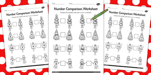 The Nutcracker Number Comparison Worksheets - nutcracker, number