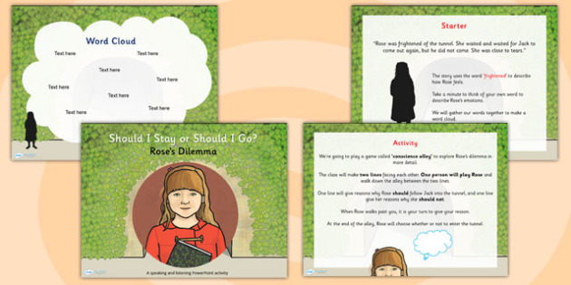 The Tunnel Anthony Browne Roses Dilemma Task Setter PowerPoint
