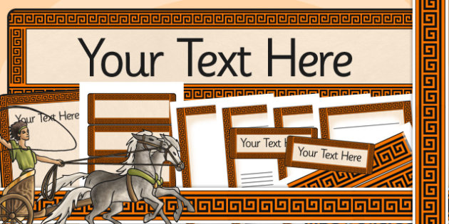 Ancient Greece Themed Editable Display Pack - ancient greece