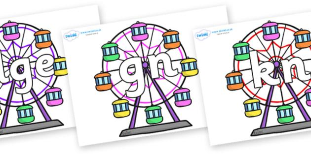 Silent Letters on Ferris Wheels - Silent Letters, silent letter, letter blend, consonant, consonants, digraph, trigraph, A-Z letters, literacy, alphabet, letters, alternative sounds