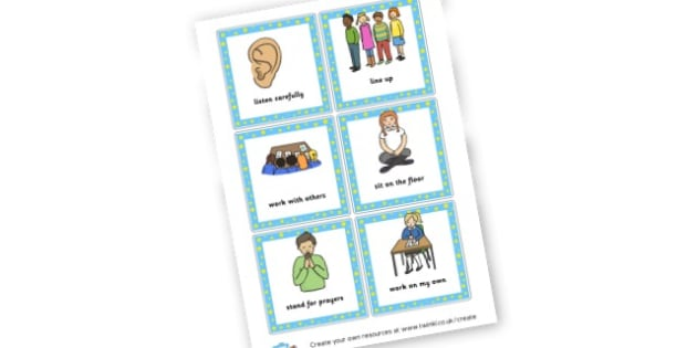 Behaviour Visuals - Rules & Behaviour Primary Resources, golden time, routines, reward