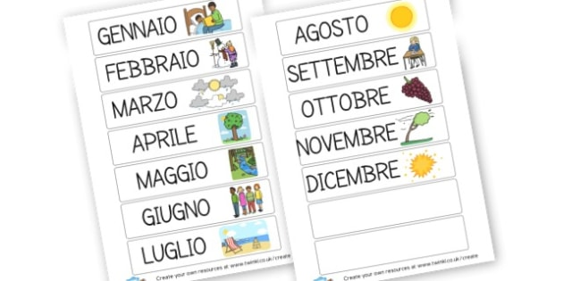 MESI - Italian Months of the Year Primary Resource,Primary,Italian,Months
