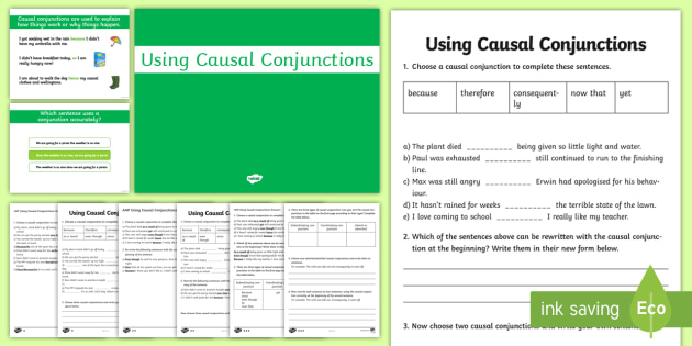 Causal Connectives PowerPoint Pack - casual, connectives, pack