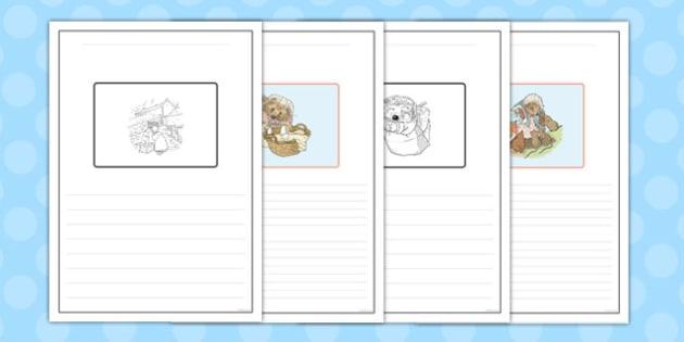 The Tale of Mrs Tiggy Winkle Story Writing Frames - mrs tiggy winkle