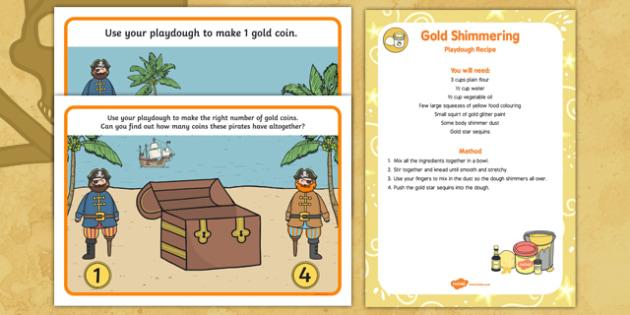 Pirates Playdough Recipe and Mat Pack