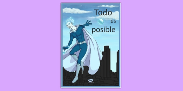 Anything is Possible Motivational Poster -Spanish