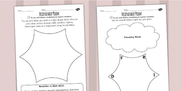 Charlotte's Web Inspired Friendship Poem Writing Activity