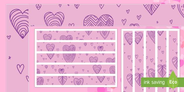 Valentine's Day Display Borders - Valentine's Day,  Feb 14th, love, cupid, hearts, valentine, 14th Feb, February