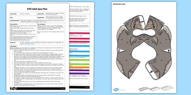 Bee Bot Activity EYFS Adult Input Plan and Resource Pack to Support Teaching on Mr Wolf's Pancakes - EYFS, Early Years planning, adult led, ICT, UtW, Understanding the World, Pancake Day, Shrove Tuesday, Mr Wolf's Pancakes, Jan Fearnley
