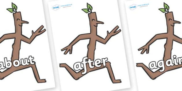 KS1 Keywords on Stick Man to Support Teaching on Stick Man - KS1, CLL, Communication language and literacy, Display, Key words, high frequency words, foundation stage literacy, DfES Letters and Sounds, Letters and Sounds, spelling