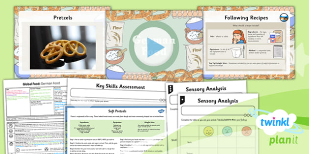 PlanIt - DT UKS2 - Global Food Lesson 6: German Food Lesson Pack