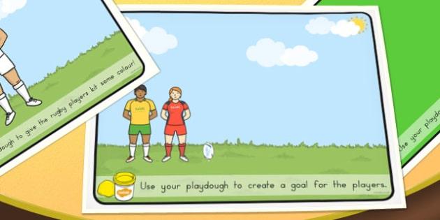 Rugby Playdough Mats - australia, playdough mats, playdough, mat