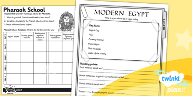 PlanIt - History UKS2 - Ancient Egypt Unit Home Learning Tasks