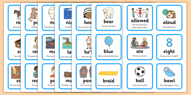 Homophones Matching Cards Activity Sheet Pack - GPS, near, spelling, worksheet