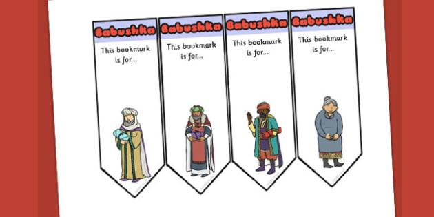 Babushka Editable Bookmarks - babushka, bookmarks, story, edit