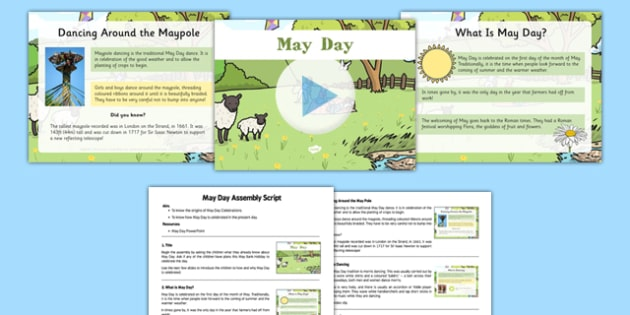 May Day Assembly Pack - May Day, traditions, origins, assembly