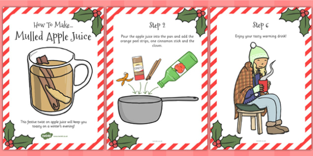 Mulled Apple Juice Recipe Cards - card, drink, Cooking, Apples