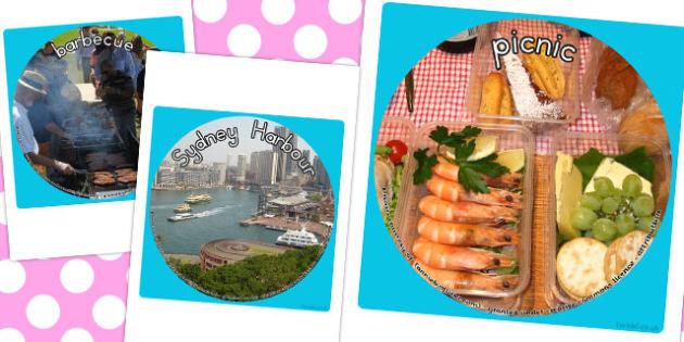 Australia Day Display Photo Cut Outs - australia, display, photo