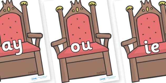 Phase 5 Phonemes on Thrones (Plain) - Phonemes, phoneme, Phase 5, Phase five, Foundation, Literacy, Letters and Sounds, DfES, display