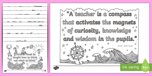 World Teachers' Day Minfulness Colouring Pages