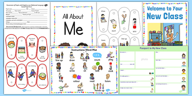 EAL Transition Pack to a New Class - transition, pack, new class